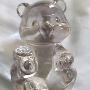 Fenton Glass Crystal Bear.